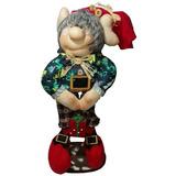 Muñeco Duende Gorro Rojo 51 Cm Navidad Regalo Amor Hogar