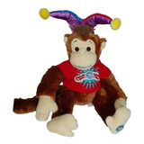 Peluche Mono Arlequin 50cm Chimpance Regalo Navidad Amor Lov