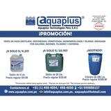 Agua Desionizada, Destilada Gln 4 Lts Bid 20 Lts Cil 200 Lts