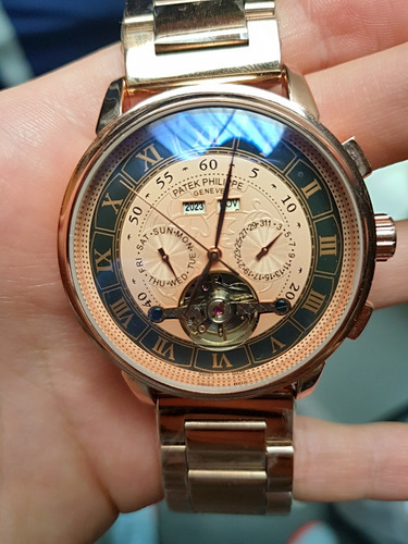 f6bc611992f Reloj Patek Philippe Automático 100% Nuevo Y Sellado