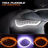 Led Tira Flexible 60 Cm Blanco Ambar Auto Camioneta