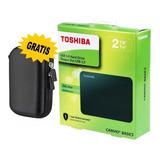 Disco Duro Externo Toshiba 2tb Gratis Protector Portátil