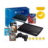Play Station 3 Super Slim 500 Gb + 40 Juegazos Garant. 1año