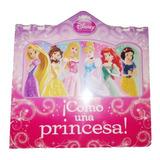Libro Princesas Disney Tapa Dura Original Niñas 6 Historias