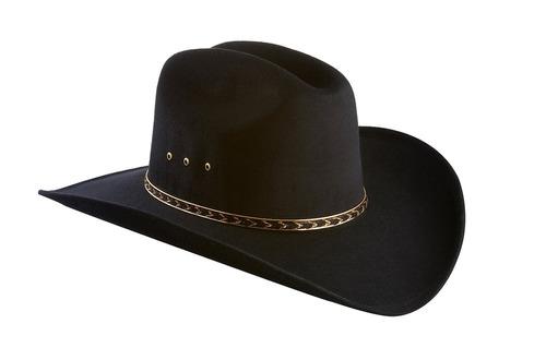Sombrero De Vaquero Occidental De Ala Ancha De Fieltro Si 05ba9eb7284