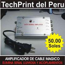 Eliminador Lluvia Amplificador X 4 Salidas Cable Magico