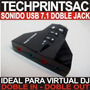 Tarjeta Sonido Usb Virtual Dj Doble In Doble Out Profesional
