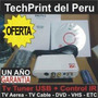 Tv Sintonizador Tuner Usb Digitalizador Video Control Remoto