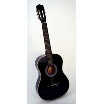 Guitarra Acustica Natural Negra Excelente Calidad Precio!!!