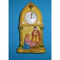 Adorno Nacimiento Navideño Con Reloj