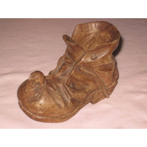 Pequeño Zapato Botín De Madera Decorativo.
