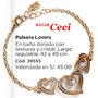 Hermosa Pulsera Lovers Corazones De Esika Baño Oro 24k