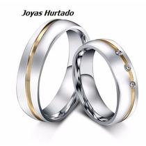 Aros De Matrimonio Enchapados En Oro Blanco