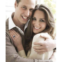 Anillo + Aretes Compromiso Kate Middleton Oro 18k Enamorados