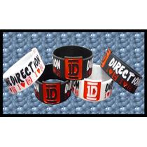 Pulseras One Direction Con Logo 1d - Blanco Y Negro