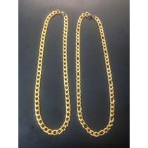 Cadenas Dorada De Acero Exclusivo Inox 316l Steel Oro 24k