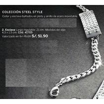 Hermosa Esclava Steel Style Para Hombre De Esika Oferta!!!!!