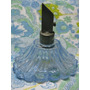 Mundo Vintage: Botellita Perfume De Coleccion Celeste Bronce