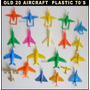 Dante42 Pack 20 Avion Aviones Juguetes Antiguos 1970