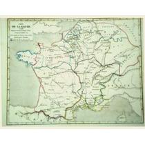 Antiguo Mapa Del Imperio Franco En El Siglo Vi (1860)