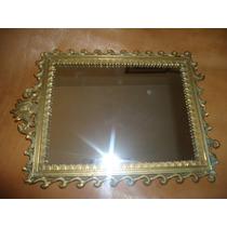Decorativo Espejo Marco De Bronce Antiguo... Italia