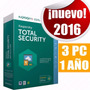 Kaspersky Total Security 2016 / 3pc X 1 Año Key Original !!!