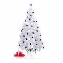Arbol Blanco De Navidad 2.10m Más 24 Bolascompupalacetda1038