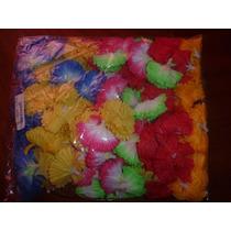 Flores De Tela De Colores Para Collares Hawaianas!!