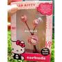 Audifono Hello Kitty Sakar Sanrio Para Iphone, Ipod Mp3