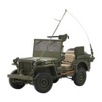 Auto Jeep Willys Ejercito Marca Autoart Ecs 1.18