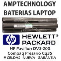 Bateria Laptop Hp Pavilion Dv3-2000 Compaq Presario Cq35 9ce