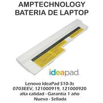 Bateria Laptop Lenovo S10-3 S10-3s Blanca Nueva