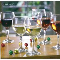 Set De Copas De Vino 6 Unid Ferrand - Nuevo A S/. 70.00