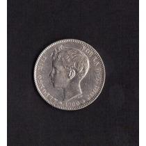 # Moneda De Plata De 1900 De España Una Peseta