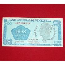Billete 2 Dos Bolívares Venezuela 1989 Bolívar Libertador