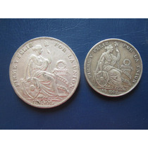 Moneda Antigua 5 Cinco Decimos De Plata Serie Completa