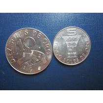Serie De Moneda De 10 Y 5 Soles 1969 El Pescadito Y Quero