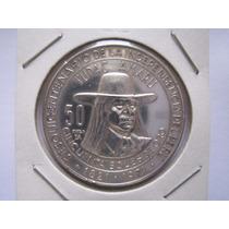 Moneda Plata Tupac Amaru Peru 1971 Acuñador Pareja 50 Soles