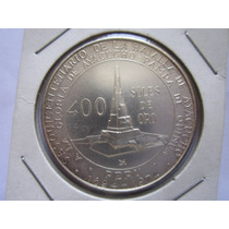 Moneda Plata Batalla De Ayacucho Peru 1976 400 Soles De Oro