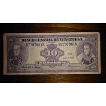 Billete De 10 Bolivares Sin Circular Muy Escaso