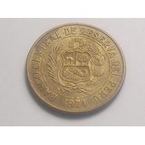 Moneda Un Sol De Oro Con Figura De La Vicuña