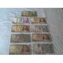 Lote De 9 Billetes Antiguos: Intis Peruanos