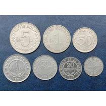 Lote 7 Monedas Bolivia 1 Boliviano 5 Pesos Unión Es Fuerza