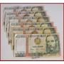 Dante42 Lote 06 Billetes Antiguo Peru 1000 Intis 1988