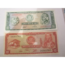 Serie Completa De Billete Soles De Oro Coleccion Billetes