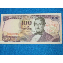 Billete De 100 Pesos Colombianos Año 1980
