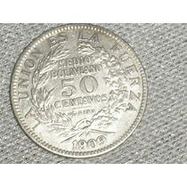 Moneda De Bolivia De 50 Centavos