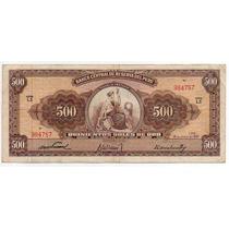 Peru 1961, Billete De 500 Soles De Oro, Libertad Sentada
