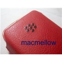 Blackberry Curve 8520 Funda Cuero Rojo Con Sensor Apagado
