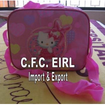Cartera Lonchera Hello Kitty Colegio Para Niñas 2 Modelos